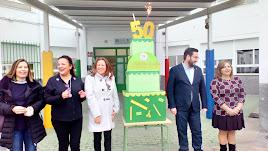 celebración del 50 aniversario en el centro educativo de Tabernas.