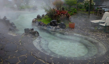 Photo: Papallacta pools have beautiful stone work and plant arrangements