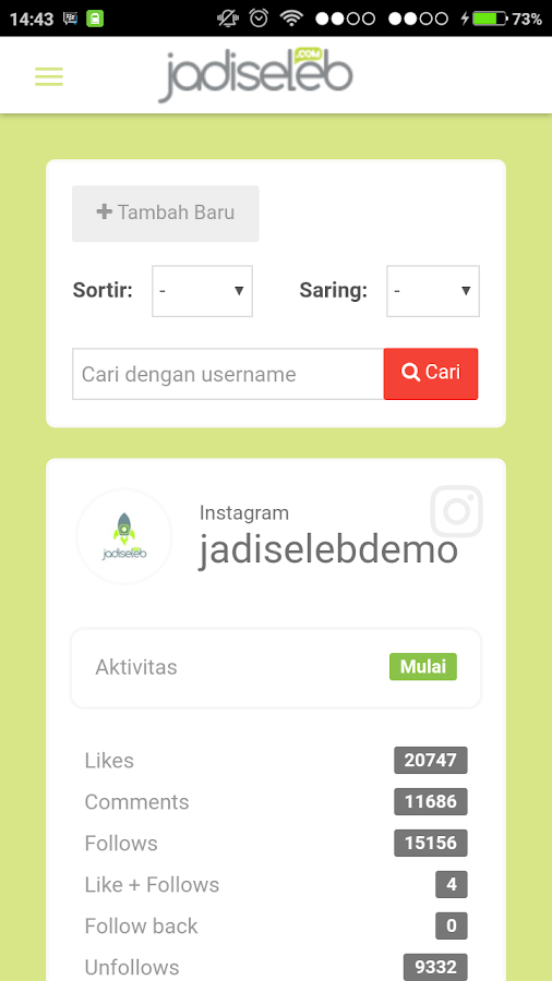 Jadi Seleb- screenshot