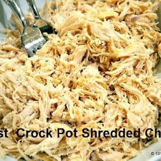 Easiest Crock Pot Shredded Chicken.