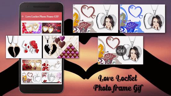 Love Locket GIF Photo Frame Editor - náhled