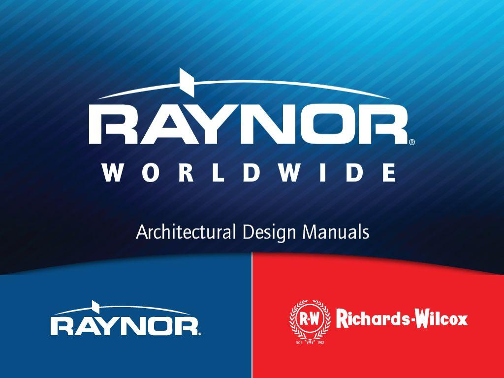 RAYNOR ARCHITECT DESIGN GUIDE- screenshot