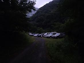 Photo: 芦安市営駐車場、大混雑でこんな山中に案内されました