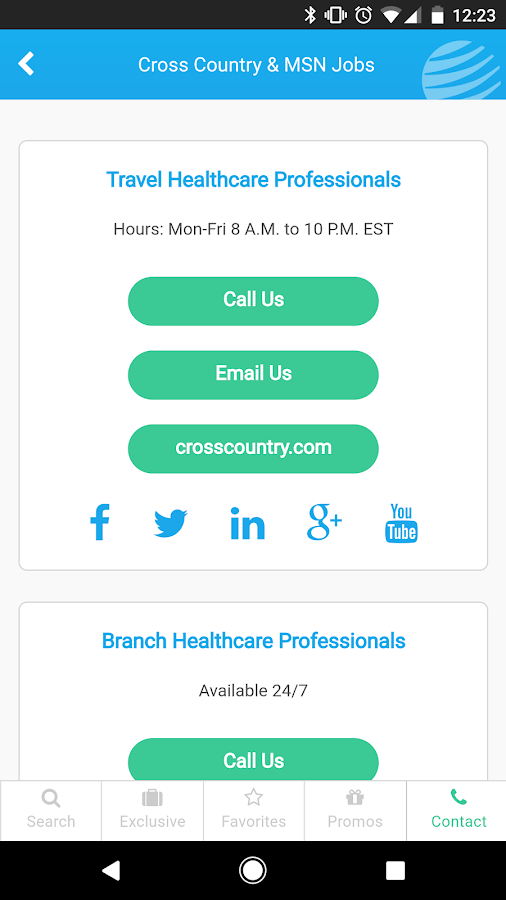 Cross Country Jobs- screenshot