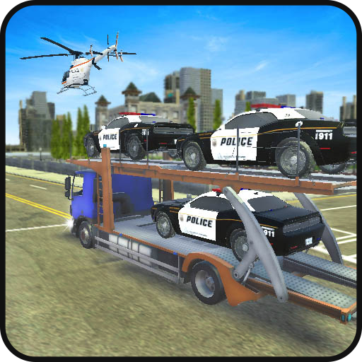 US Police Car Transport Truck: Drift X Car Stunts