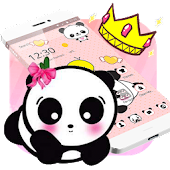 Pink Lovely Panda Cute Theme