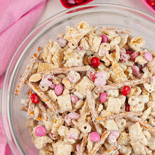Cupid's Crunch Chex Mix.