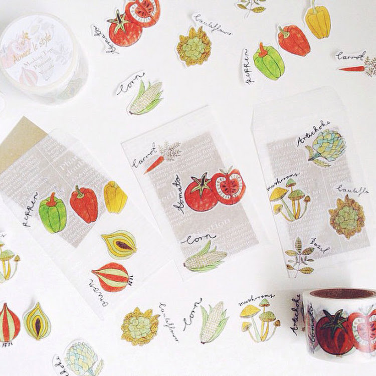Vegetable by aimez le style mt washi masking tape by Pipit Zakka Store