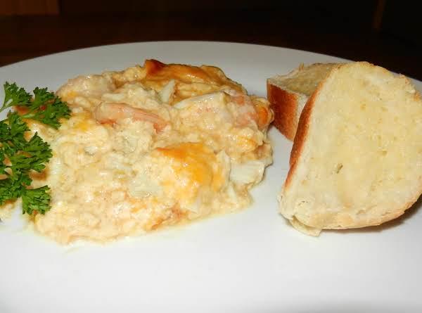 Crabmeat & Shrimp Au Gratin With Fresh Buttered Bread..