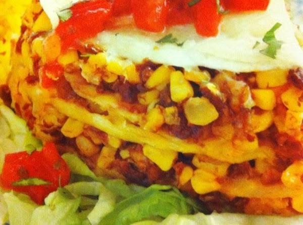 Layered Mexican Tortilla Pie Recipe