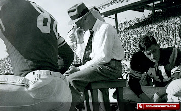 Photo: Wilkinson on the sideline at an OU-Texas game at the Cotton Bowl in Dallas.