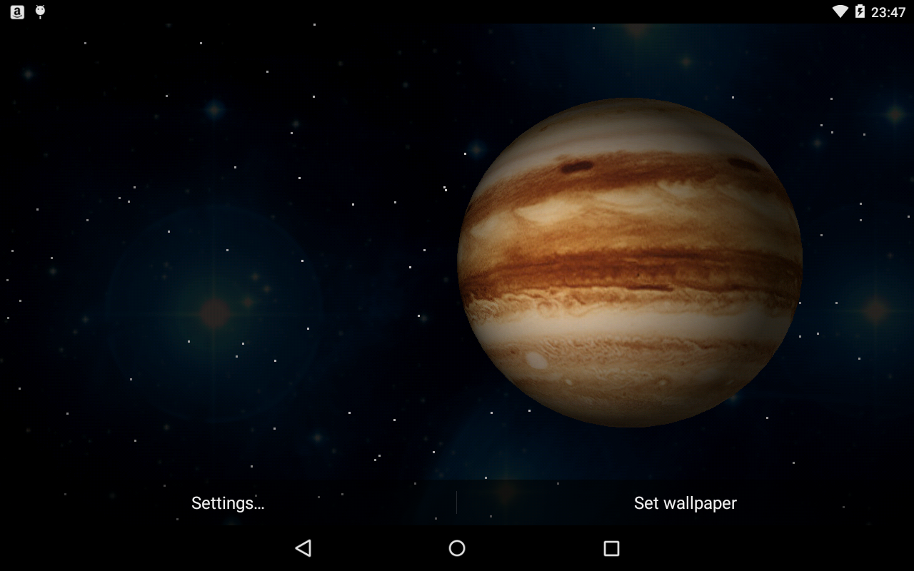 3D Planets Live Wallpaper- screenshot