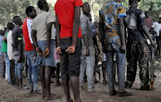 South Sudanese children released by armed groups attend a ceremony in the western town of Yambio, South Sudan.