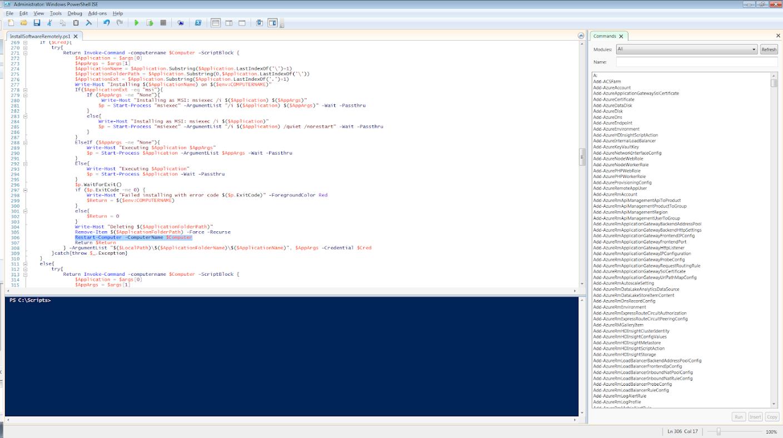 Terence Luk: Using InstallSoftwareRemotely ps1 to upgrade