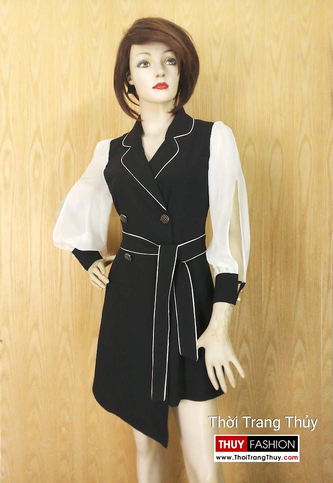 Váy xòe cổ vest nữ V641 Thời Trang Thủy Hải Phòng