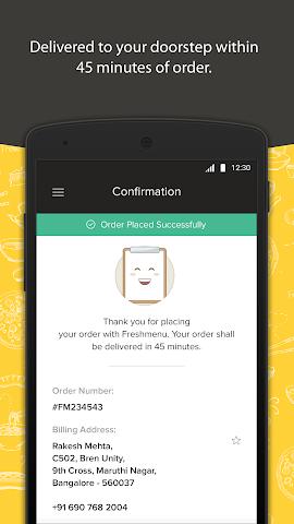 android Freshmenu: Fresh Food Delivery Screenshot 4