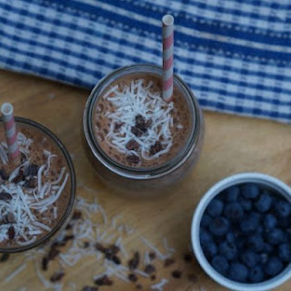 Choc-nut-caramel-coffee Low Fructose Smoothie.