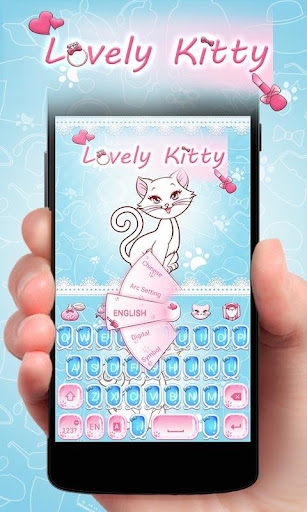 Lovely Kitty GO Keyboard Theme