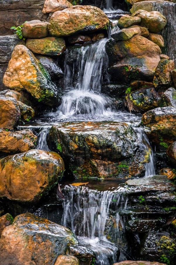 Man-made fountain by Varok Saurfang - City,  Street & Park  Fountains ( water, madmade, fountain, flow, rocks )
