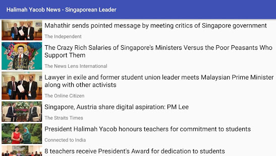 Halimah Yacob News - Singaporean Leader – Apps on Google Play