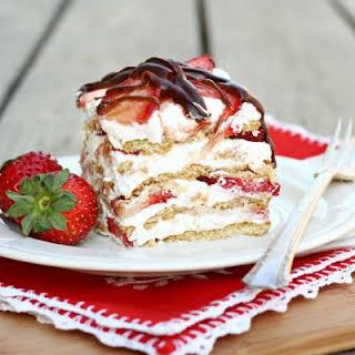 No Bake Strawberry Cream Cake.