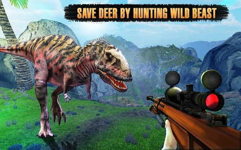 ‪Dinosaurs Hunter Jungle Animals Sniper Safari‬‏- صورة مصغَّرة للقطة شاشة