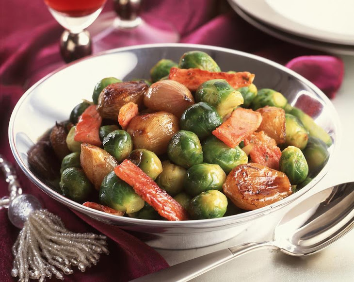 Pan Fried Brussels Sprouts and Shallots