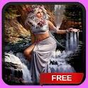 Waterfall Woman Live Wallpaper icon