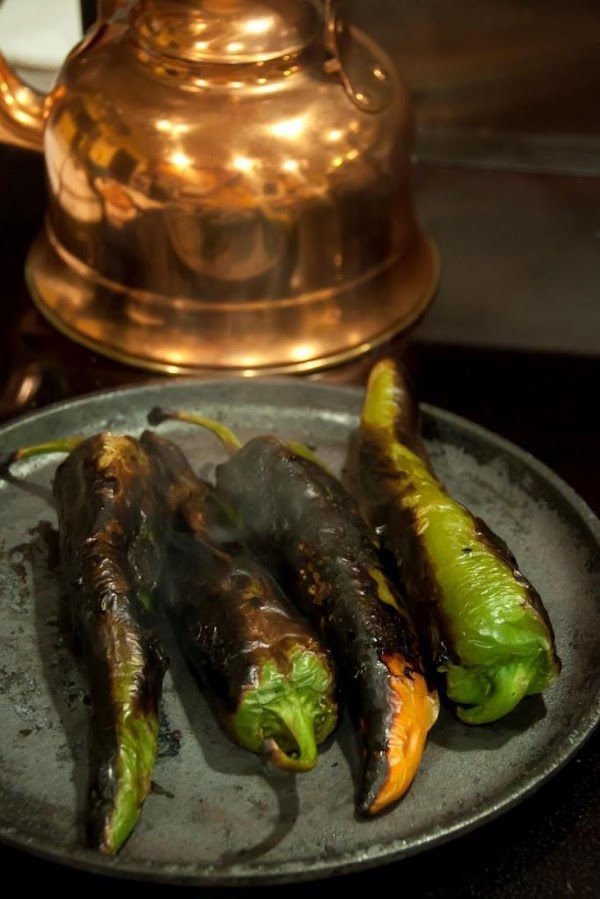 Char your chiles on a comal, or in a cast iron frying pan or...