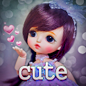 Cute Wallpapers - Cute babies, Dolls Backgrounds icon