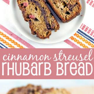 Cinnamon Streusel Rhubarb Quick Bread