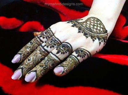 Mehndi Hands With Mobile : Finger mehndi designs app report on mobile action