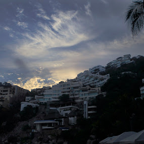 sunset in Acapulco by Cristobal Garciaferro Rubio - Buildings & Architecture Homes ( acapulco, sunset buldings, homes )