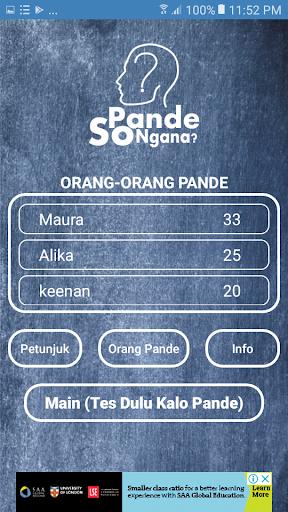 Pande So Ngana? - (Logic and Focus Game) 1.0 screenshots 2