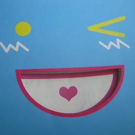 by Khalid Farooq - Drawing All Drawing ( blue )
