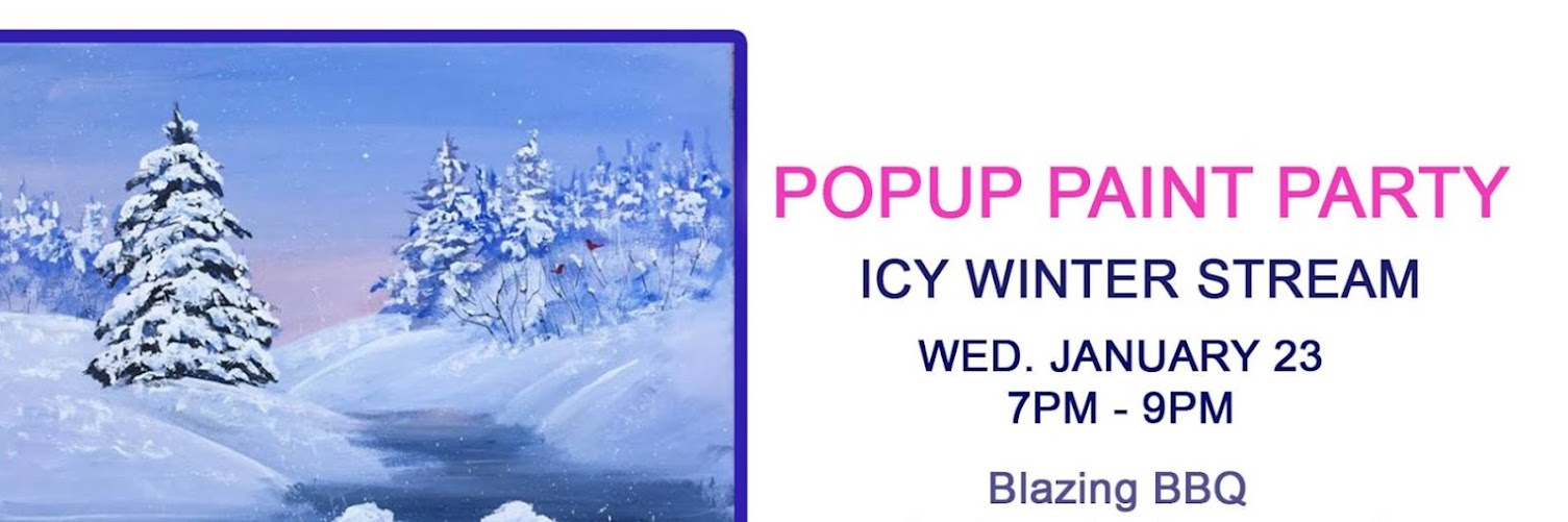 Popup Paint Party - Icy Winter Stream