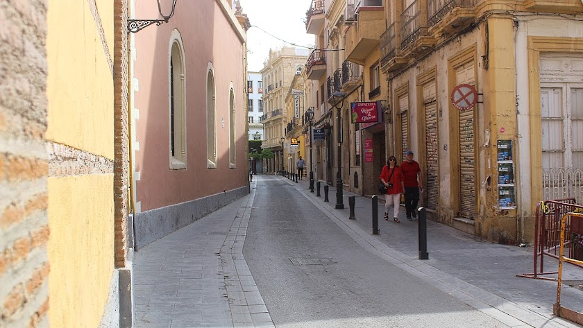 Una calle en pleno estado de alarma en la capital.