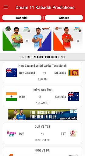 Dream11 Big Bash Cricket Predictions & Pro Kabaddi 1.3 screenshots 2