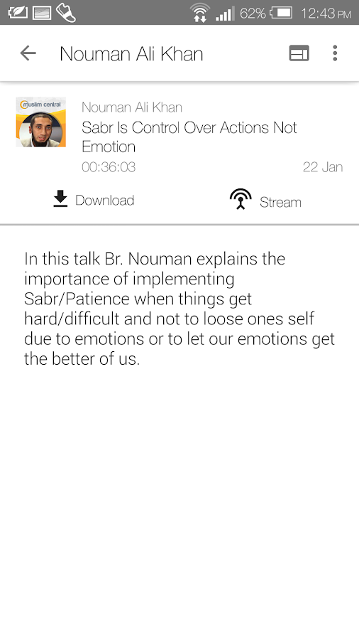 Nouman Ali Khan - Lectures - Android Apps on Google Play