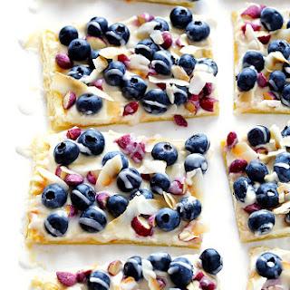 Super-Easy Blueberry Almond Tart.