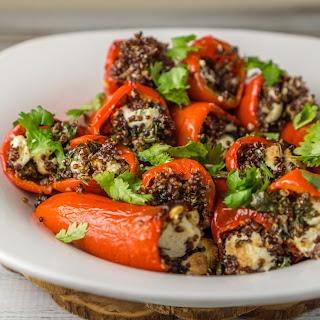 Vegetarian Stuffed Mini Bell Peppers