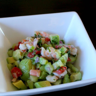 15 Minute Easy Shrimp Ceviche.