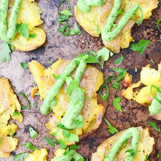 Smashed Potatoes with Chimichurri Sauce