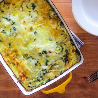 Spinach Artichoke Crustfree Quiche
