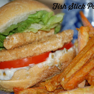 Fish Stick Po-boys and Sweet Potato Fries