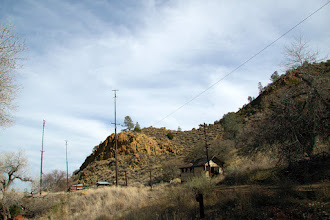 Photo: This appeared to be an old telephone station. Old equipment (circa 1990) was still inside.