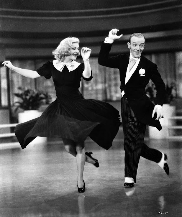 "Fred Astaire and Ginger Rogers in ""Swing Time."""