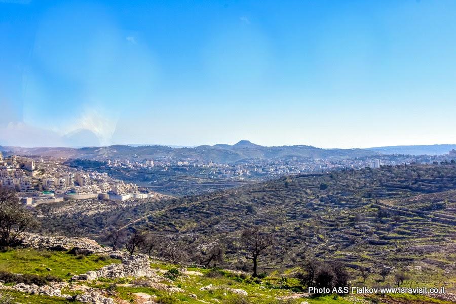 Гора Ирадион в Иудее в окрестностях Иерусалима. Экскурсия в Иродион.