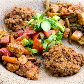 Yetakelt W'et aka Ethiopian Vegetable Stew with Braised Tempeh
