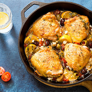 Mediterranean Roasted Chicken Thighs (Dinner for Two) Recipe